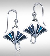 Sterling Silver Manta Ray Earrings DE 0250