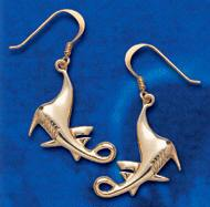 Manta Ray Earrings DE 8201 in gold