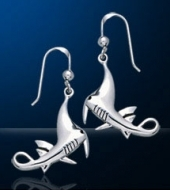 Manta Ray Sterling Silver Earrings