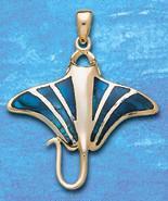 manta ray pendant DP 7710 in gold