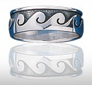Sterling Silver Ocean Wave Ring DWR 155