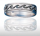 Sterling Silver Ocean Wave Ring DWR 351