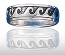 Sterling Silver Ocean Wave Ring DWR 503