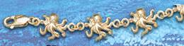 octopus anklet DA 274 in gold