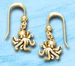 Octopus Earrings DE 4204 in gold