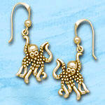 Octopus Earrings DE 8233 in gold