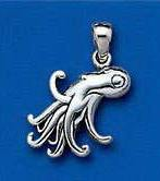 Sterling Silver Young Octoopus Pendant DP 0216