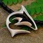 designer pewter shark necklace