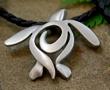 designer pewter sea turtle necklace