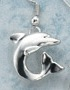 sculptural silver dolphin earrings single