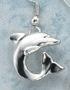 sculptural silver dolphin earrings single