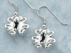 Sterling Silver Shape Shifting Octopus Earrings
