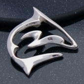 sterling silver shark pendant