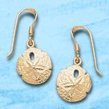 sand dollar dangle earrings DE 323 in gold