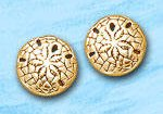 Sand Dollar Post Earrings DE 3258 in gold
