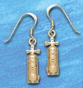 Scuba Tank Earrings SDE 352 in gold