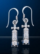 Sterling Silver Scuba Tank Earrings