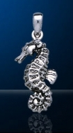 Sterling Silver Seahorse Pendant DP 5424
