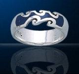 Sterling Silver Sea Waves Ring DWR 4185