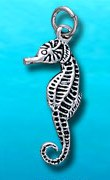 sterling silver seahorse charm DC 356