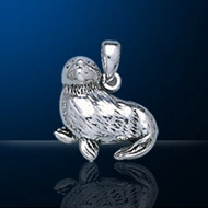 Sterling Silver Seal Pendant DP 1915