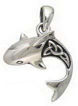 Sterling Silver Celtic Shark Pendant DP 660