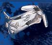 sterling silver shark ring DFR 3155