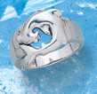sterling silver shark ring DFR 3183
