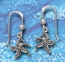 sterling silver starfish dangle earrings DE 3204