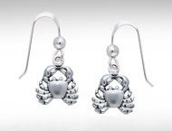 Sterling Silver Crab Earrings DE 738