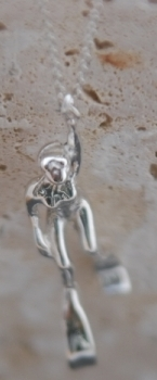 Sterling Silver Diver Pendant R10