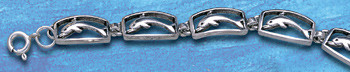sterling silver dolphin bracelet  DB 494