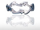 sterling silver dolphin rings DGDR 153