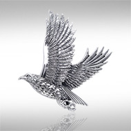 Sterling Silver Falcon Pendant DP 943