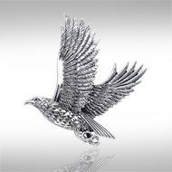Sterling Silver Falcon Pendant DP 943