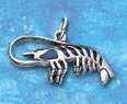 Sterling Silver Lobster Charm with Paua shell DC 2257