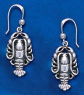 Sterling Silver Lobster Earrings DE 568