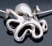 Sterling Silver Octopus Pendant R15