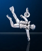 Sterling Silver Scuba Diver Charm