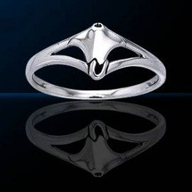 sterling silver sea life ring