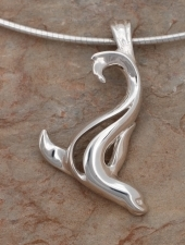 Artistic Sterling Silver Sea Lion Pendant