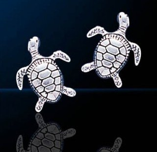 Sterling silver sea turtle jewelry mozeypictures Images