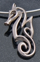 sterling silver sealife pendant