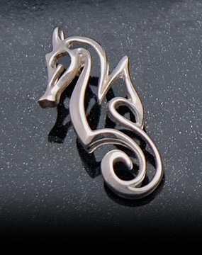 Sterling silver seahorse pendant mozeypictures Images