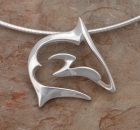 Artistic Contemporary Style Sterling Silver Shark Necklace