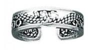 sterling silver filigree toe ring TR 238