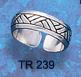 sterling silver celtic toe ring TR 239