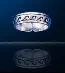 sterling silver wave toe rings Dtoe 360