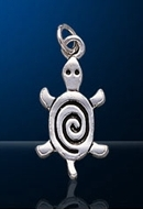 sterling silver sea turtle charm DC 741