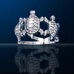 Sterling Silver Tortoise Toe Ring Dtoe 6147